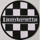 Lambretta patch - checkerboard black and white.