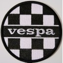 Vespa patch - checkerboard black + white.