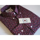 Relco paiskey shirt shirt . Burgundy, long sleeves