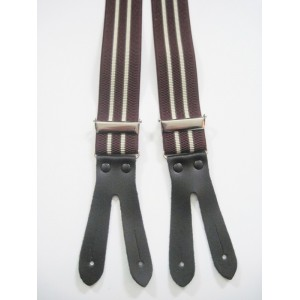 Narrow Red Braces Suspenders 18mm