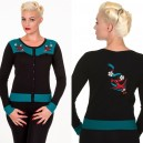 "Cardigan hirondelles ""Emily"" par Banned Apparel pin up, rockabilly, retro,vintage"