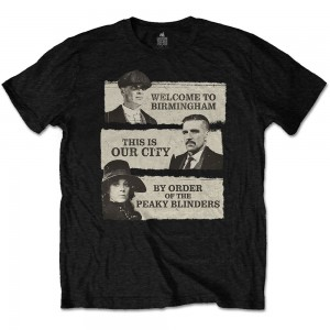 """Peaky Blinders T-shirt. """"This is our city"""". TV serie official product"""