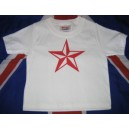 T-shirt bebe Nautical Star rouge