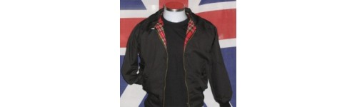 Blouson veste harrington jacket 42 euros moon stomp for Veste interieur ecossais