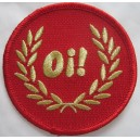 Patch Oi lauriers, rouge et or