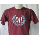 T-shirt OI in laurel wreath burgundy white