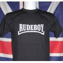 T-shirt Rudeboy . Black with white logo