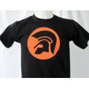 T-shirt Trojan helmet . black and white