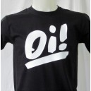T-shirt OI . Black with white logo