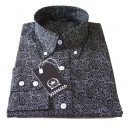 Relco paisley shirt . Black and white, long sleeves