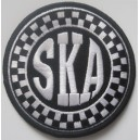 Ska patch - black and white
