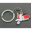 vespa scooter red and white keyring