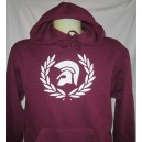 Sweat capuche Trojan lauriers bordeaux