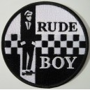 Rudeboy patch - black and white