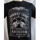 "Johnny Cash T-shirt. ""Genuine American Rebel""."