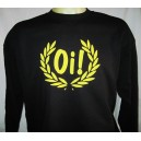 Sweat-shirt Oi lauriers , Noir/jaune