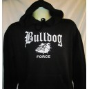 Sweat capuche Bulldog force  noir/blanc
