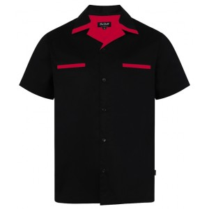 """Chet Rock """"Donny"""" shirt. Black and  red"""